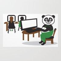 teacher Area & Throw Rugs featuring Panda Teacher by WCVS Online