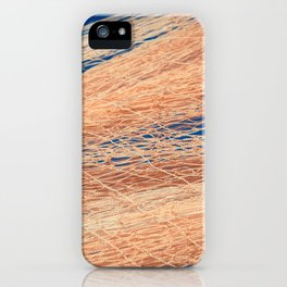Nylon fishnet texture on the clear sky iPhone Case