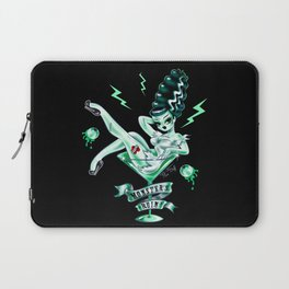 Bride of Frankenstein in a Martini Glass Laptop Sleeve
