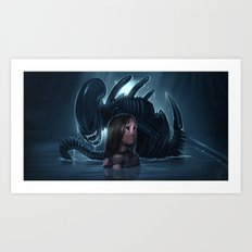 Newt with an Alien Art Print