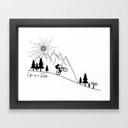 cycling mountain bike mountainbike cyclist bicycle MTB gift Framed Art Print