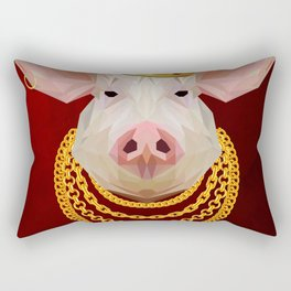 The King of Pigs Rectangular Pillow