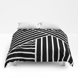 White stripes Comforters