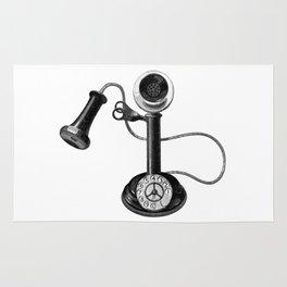 Old telephone Rug
