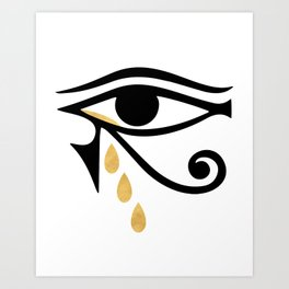 ALL SEEING CRY - Eye of Horus Art Print