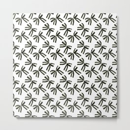 Black and white bows Metal Print
