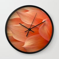 jewish Wall Clocks featuring Gentle Petals by Brown Eyed Lady