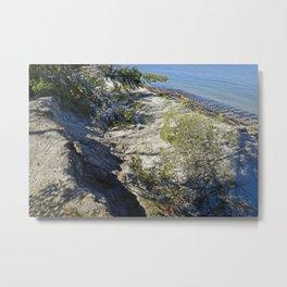 Beach Erosion and Joseph Fay shipwreck Metal Print