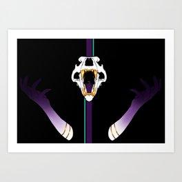 Gold Fangs Art Print