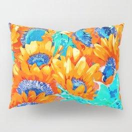 Sunflower Garden #nature #painting Pillow Sham