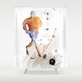 Soccer Player 7 Shower Curtain