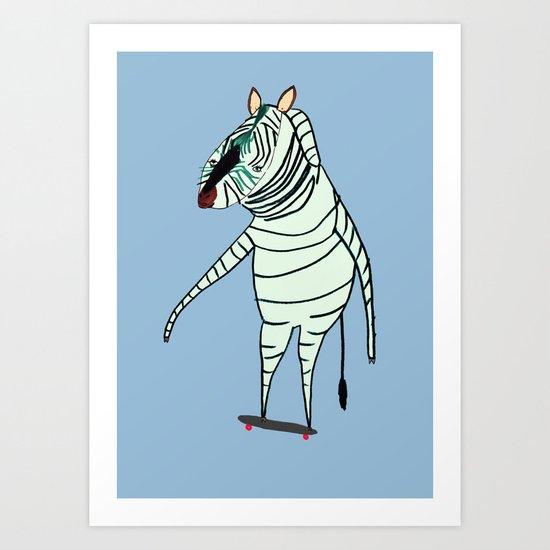 Zebra Dude Art Print