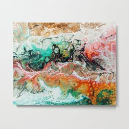 Painted Reality #abstract #painting Metal Print