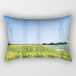 Sunflower Fields Rectangular Pillow
