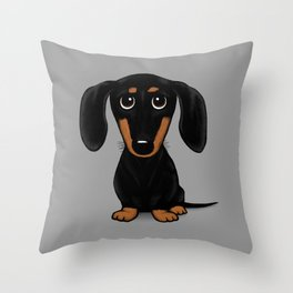 Black and Tan Shorthaired Dachshund Throw Pillow
