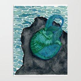 Sleeping purrmaid Poster