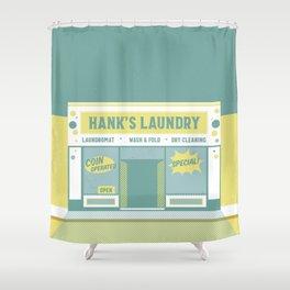 Beach Laundromat Shower Curtain
