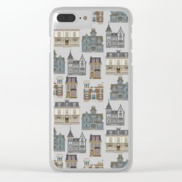 Victorian pattern Clear iPhone Case