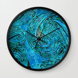 Chanting Blue Loon Wall Clock