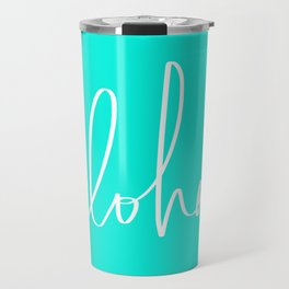 Aloha Tropical Turquoise Travel Mug