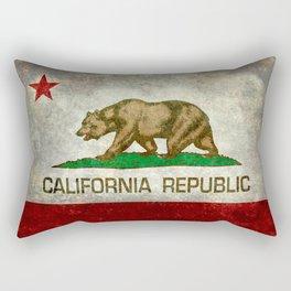 California flag - Retro Style Rectangular Pillow