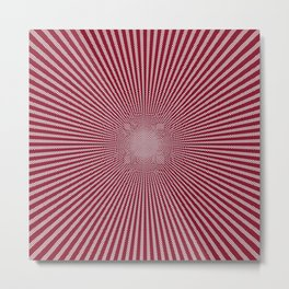 Peppermint Candy Cane Vortex Metal Print