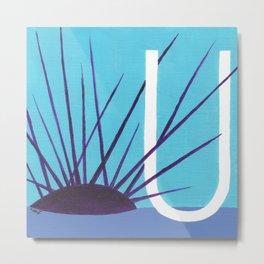 U is for Urchin Metal Print