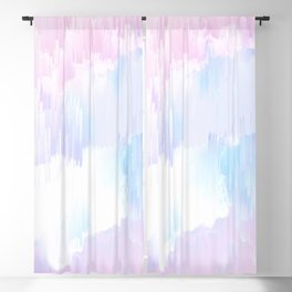 Sky Fall Dream Pastel Glitch - pink and blue Blackout Curtain
