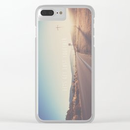 lets get lost together ...  Clear iPhone Case