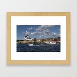 Homlungen lighthouse, Hvaler Norway Framed Art Print