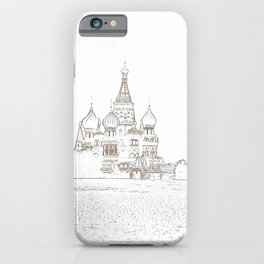 Saint Basil's Cathedral (on white) iPhone Case