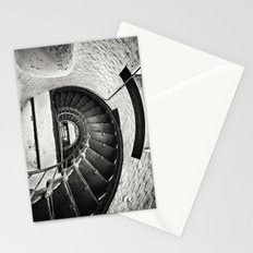 Sepia - Cape Hatteras Lighthouse (inside steps), Outer Banks, NC Stationery Cards