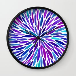 Lavender Burst Wall Clock