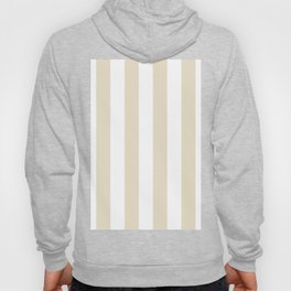 Vertical Stripes - White and Pearl Brown Hoody