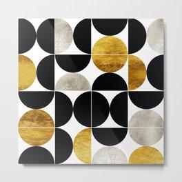 Modern Abstract Geometric Mid Century pattern Metal Print