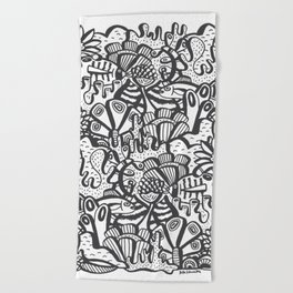 Life Aquatic Beach Towel