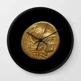 Alexander the Great - Antique Gold Coin Design Wall Clock
