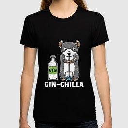Gin Chilla Chinchilla Cocktail Drink T-shirt