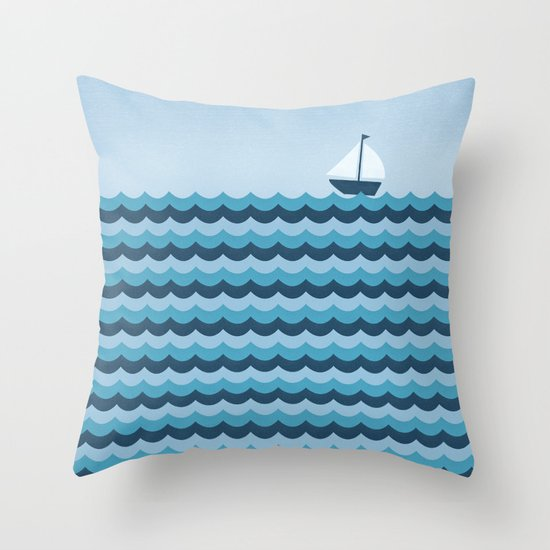 Ocean Waves Throw Pillow