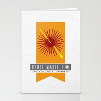 martell Stationery Cards featuring House Martell Sigil by P3RF3KT
