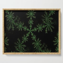 Neon black star pattern Serving Tray