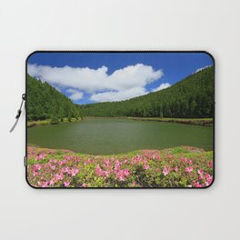 Lake in Azores Laptop Sleeve