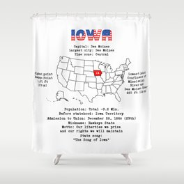 Iowa Shower Curtain