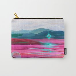 Pink fields Carry-All Pouch