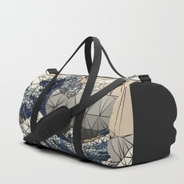 Lowpoly - The great wave of K Duffle Bag