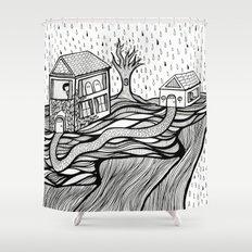 Rainy Day Shower Curtain