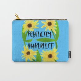 Perfectly imperfect classic blue background Carry-All Pouch