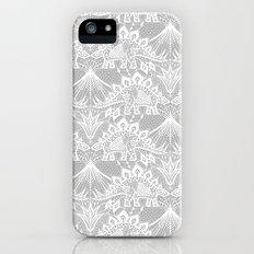 Stegosaurus Lace - White / Silver Slim Case iPhone SE