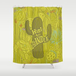 Hard to Handle Shower Curtain