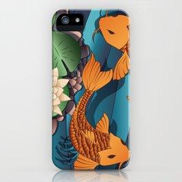 Carp Koi Fish in pond 002 iPhone Case